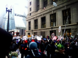 Mar. 27, 2013 | Hundred march through Chicago's Loop calling for a moratorium to mass CPS closures.