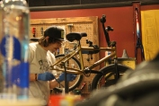 Feb. 25, 2014 | Bob Delatt, 28, co-owner of Let's Roast Cycles at 1116 N. Milwaukee Ave., is a BMX biker who has been riding professionally and semi-professionally since he was about 15 years old. | Photo/ Emily Gray Brosious