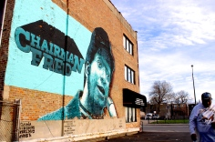 Apr. 2015   Former Black Panther Chairman Fred Hampton mural in West Chicago   Photo/Emily Gray Brosious