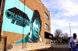 Apr. 2015 | Former Black Panther Chairman Fred Hampton mural in West Chicago | Photo/Emily Gray Brosious