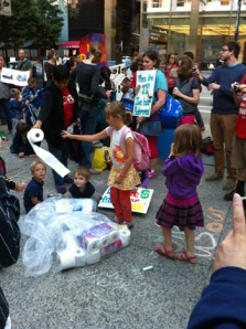 Activists at CPS Protest, June 18, 2013- Photo By Emily Brosious via Gapers Block