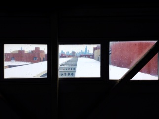 Mar. 2014   View looking East from CTA Blue Line El train Western stop platform.   Photo/Emily Gray Brosious