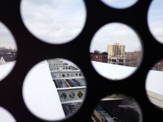 Mar. 2014 | View looking West from CTA Blue Line El train Western stop platform. | Photo/Emily Gray Brosious