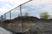 Nov. 6, 2013 | Unenclosed piles of petroleum coke ('petcoke') at KCBX Terminals in southeast Chicago. (Photo/Emily Brosious)
