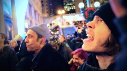 Nov. 2014 | Ferguson solidarity demonstration in downtown Chicago following the fatal shooting of Michael Brown by a Ferguson police officer. | Photo/Emily Gray Brosious