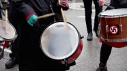 May 2014   May Day rally drummers at Haymarket Memorial in downtown Chicago.   Photo/Emily Gray Brosious