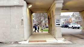 Apr. 2015 | Children playing in the streets of Chicago's Logan Square neighborhood, one block away from the location of a recent murder. | Photo/Emily Gray Brosious