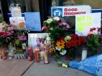 Memorial for Will Lewis, 28, who was fatally shot Jul. 12 in the 1300 block of West Devon Avenue in Chicago's Rogers Park neighborhood. (Photo by Emily Brosious / Jul. 16, 2014)