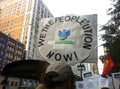 Sept. 28, 2013 | Midwest Action Against Drones demonstrators. (Photo/ Emily Brosious)
