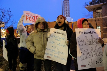 Nov. 27, 2014 |Chicago Whole Foods workers strike for Thanksgiving off. | Photo/Emily Gray Brosious