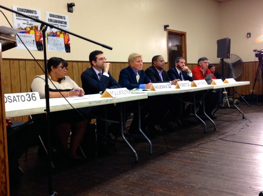 Chicago Progressive Caucus hears public concerns on city budget (Photo/Emily Brosious)