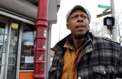 Mar. 2014 | John Benford lives around the corner from South State Street and East Garfield Boulevard and says the neighborhood is getting safer because of increased police presence in the area. | Photo/Emily Gray Brosious