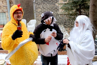 Mar. 2014 | Costumed Chicagoans out and about for the Chiditarod food drive festivities. | Photo/Emily Gray Brosious