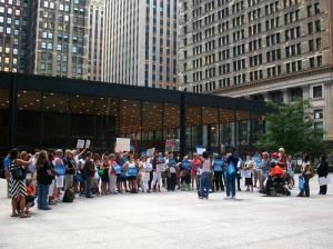 Chicago demonstrators demand tighter gun-control legislation. | Photo/Emily Gray Brosious